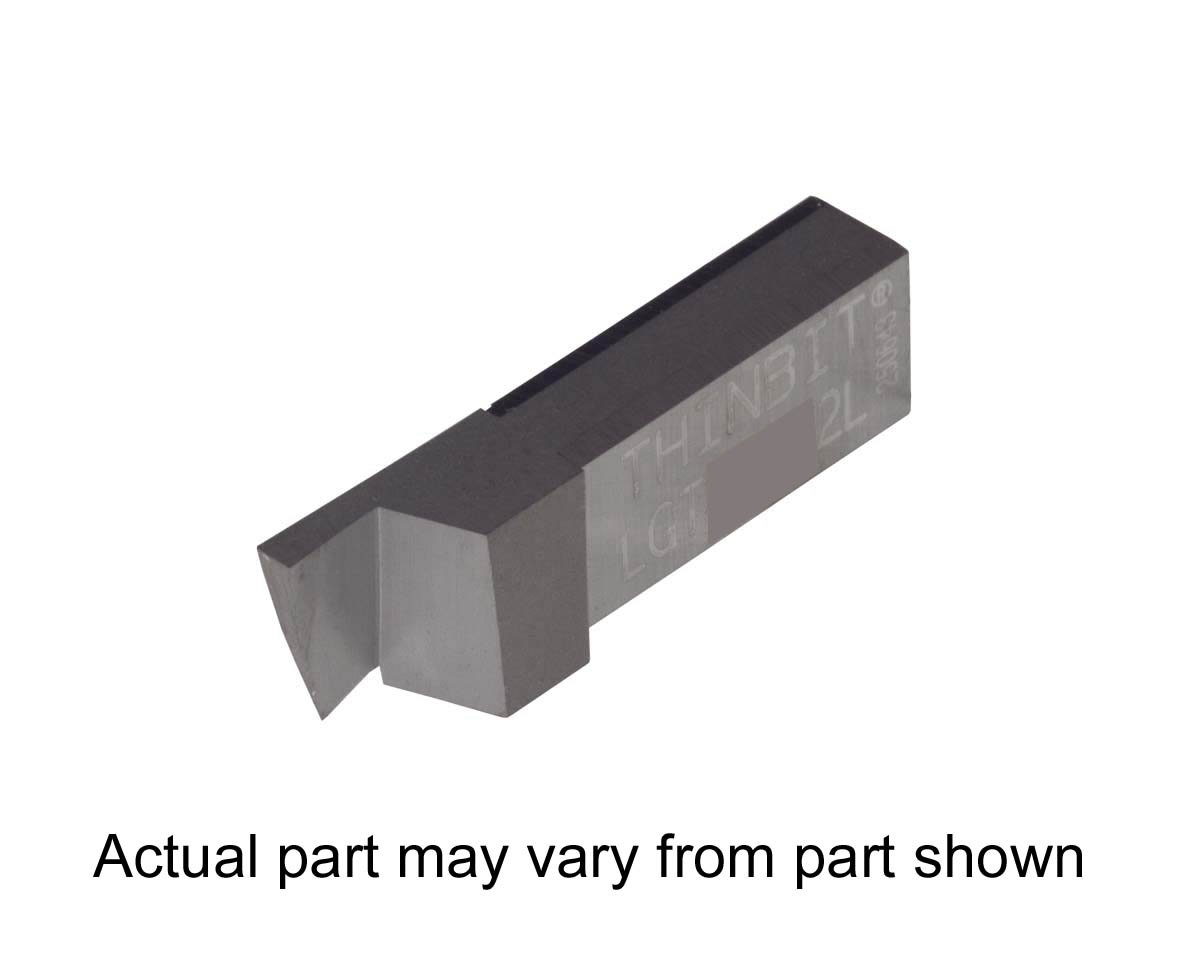 Aluminium and Plastic Without Interrupted Cuts Uncoated Carbide Sharp Corner Grooving Insert for Non-Ferrous Alloys THINBIT 3 Pack LGT045D5L 0.045 Width 0.112 Depth