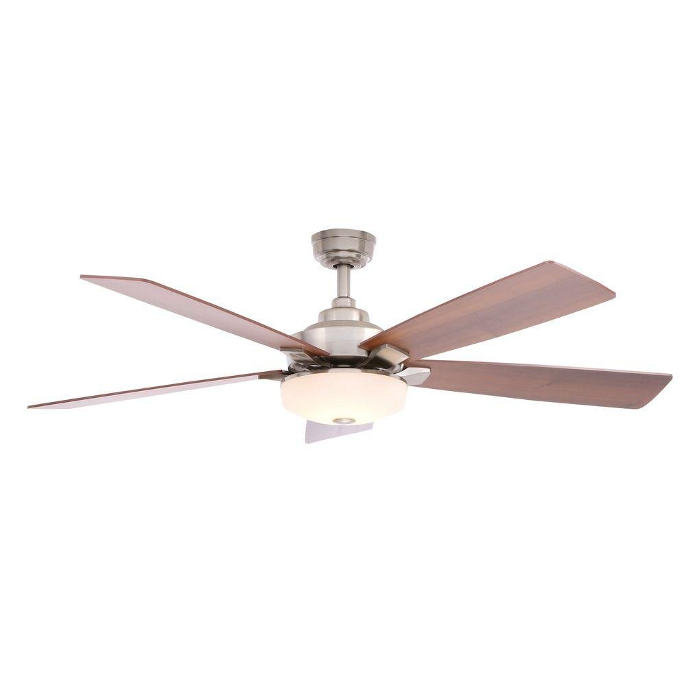 Home Decorators Collection Cameron 54'' LED Ceiling Fan Brushed Nickel