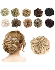 Hioffer Hair Bun Extensions 55g Messy Synthetic Chignon Hairpiece Scrunchy Updo Thick Ponytail