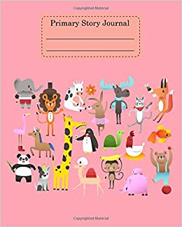 Primary Story Journal Funny Animals Kids Creative Writing