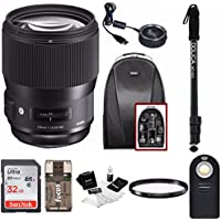 Sigma 135mm f/1.8 DG HSM Art Lens for NIKON F Cameras w/ Sigma USB Dock & 32GB Premium Travel Bundle