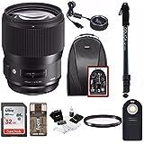 Sigma 135mm f/1.8 DG HSM Art Lens for NIKON F Cameras w/ Sigma USB Dock & 32GB Premium Travel Bundle