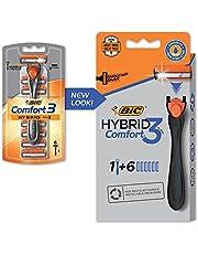 BIC Razor Hybrid3 3-Blade 6-Count