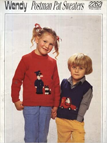 Wendy knitting pattern 2262 childrens postman pat sweaters 20 wendy knitting pattern 2262 childrens postman pat sweaters 20 28in double knitting amazon books dt1010fo