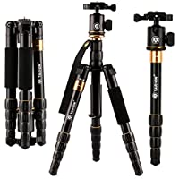TARION-278 52 Foldable Professional DSLR Tripod Built-in Unipod Monopod with Ball Head & Quick Release for Canon Nikon Sony Pentax Cameras or Mirrorless