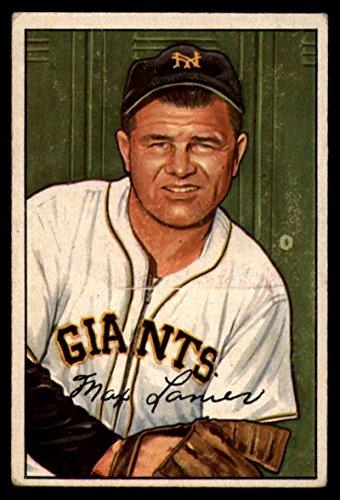 1952 Bowman #110 Max Lanier NY Giants MLB Baseball Card G/VG Good/Very Good ()