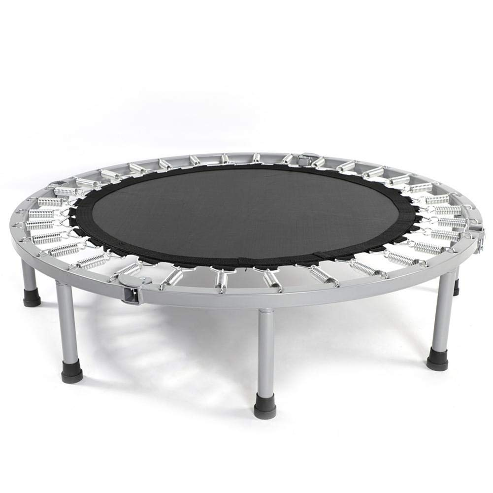 nattiness Foldable 38'' Mini Trampoline Quiet and Safe Bounce Spring Mini Bouncer, Home/Office Cardio Trainer - Safe Elastic Exercise Workout with Padding Springs