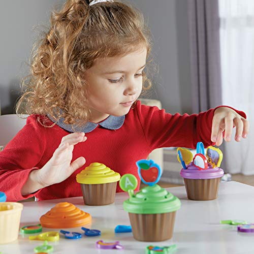 51e83gDNG2L - Learning Resources ABC Cupcake Party Toppers, Early Alphabet Learning, Vocabulary Toy, Ages 3+