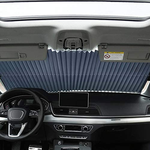 Gizayen Retractable Car Windshield Sun Shade Curtain UV Protection Sun Visor Blocks Cover Outdoor