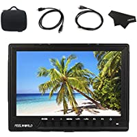 FEELWORLD FW760 Full HD 1920x1200 7 Inch IPS Support 1080P 4K HDMI Camera Monitor With Focus Assist Histogram Zebra Exposure (Include Carrying Case,Mini and Micro HDMI Cable)