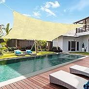 BUYFUN Toldos de toldos para pátios, impermeáveis, retangulares, proteção UV, para-sol, gramado, jardim, pérgo