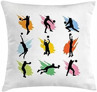 Voleibol manta almohada Funda de cojín, deportes diseño de ...