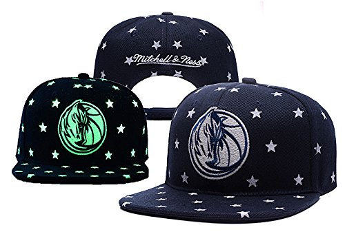 Unisex Dallas Mavericks Adjustable Black Adjustable Luminous (Callisto Clothing)