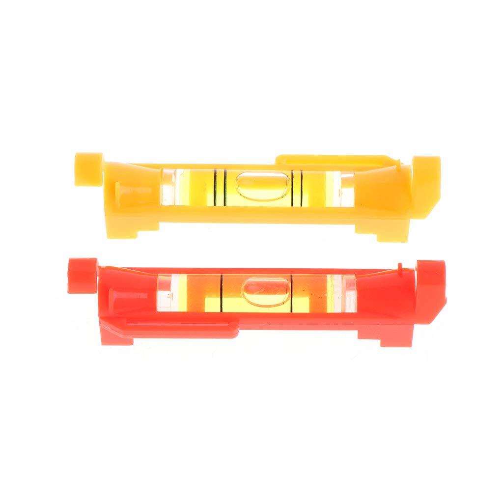 10 Pezzi Colore: Rosso//Giallo Livella a Bolla in plastica William-Lee
