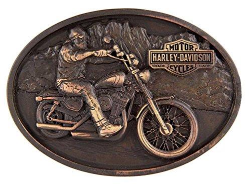 Harley-Davidson Men's Born Bad Belt Buckle, Antique Copper Finish HDMBU11219 (Harley Belt Buckles)