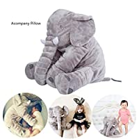 Super Cute Long Nose Elephant Grey Soft Baby Care Plush Pillow for Sleeping N...