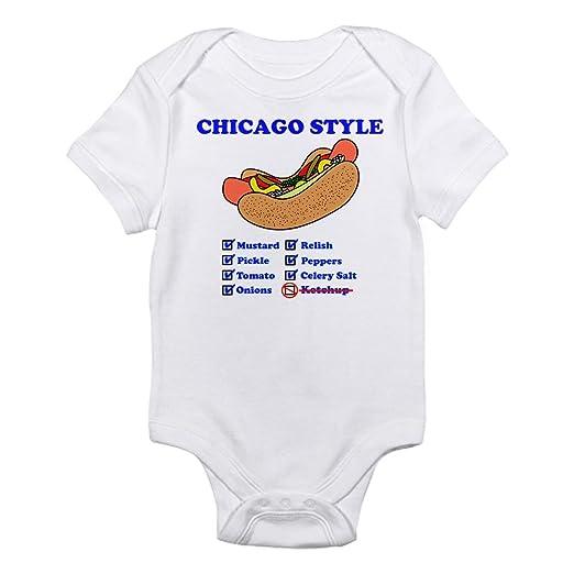 Amazon.com  CafePress Chicago Style Hotdog Body Suit Baby Bodysuit  Clothing 3fb7e80b4