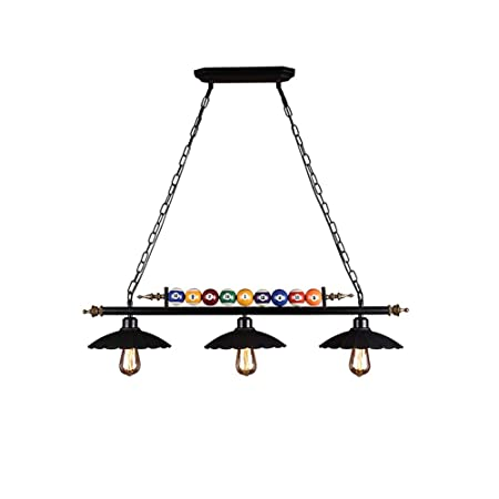 ETLISD La lámpara del Vintage, nostálgico Creativo de Billar de la ...