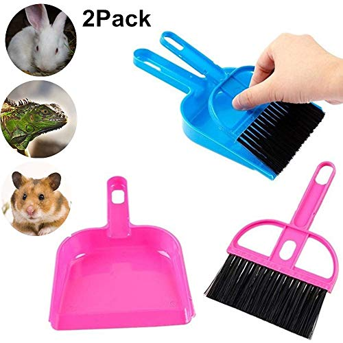 Mini Reptile Sand Scooper Set,Small Animal Cage Cleaner for Reptile, Hedgehog,Eopard Gecko Hamsters,Degus,Chinchilla,Guinea Pig,Bunny,Cleaning Tool Set for Animal Litter (2 -
