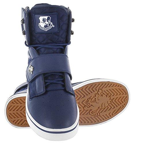 Vlado Schoeiselmensen Van Atlas 2 Microfiber & Cordura Hoge Top Van Bourgondië / Witte Sneakers Navy