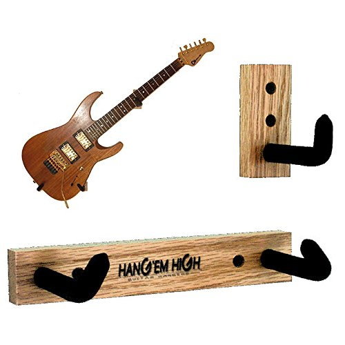 Angled Guitar Wall Hanger Display for Electric and Thin Body Guitars - Bare No Finish H3-Bare-Std