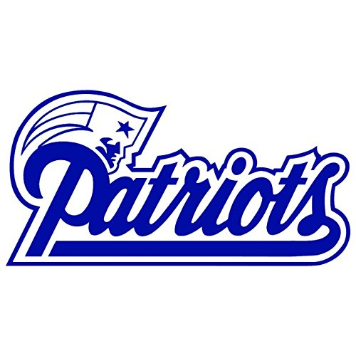 The New England Patriots (NAVY BLUE) (set of 2) - silhouette stencil artwork by ANGDEST - Waterproof Vinyl Decal Stickers for Laptop Phone Helmet Car Window Bumper Mug Cup Door Wall Home Decoration - England Silhouette