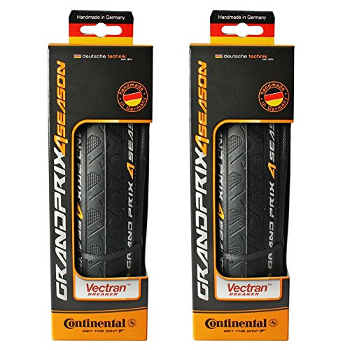 Continental Grand Prix 4-Season Folding Clincher Tire - Pair of Tires (Black - Wheel Ultra Clincher
