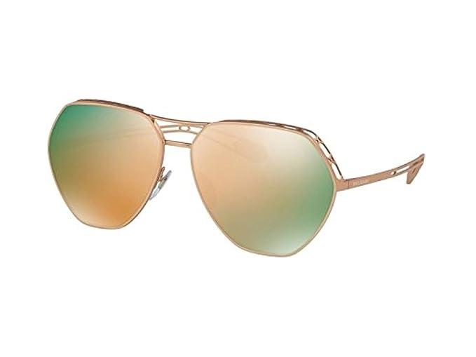 Bvlgari 0Bv6098 20134Z 61, Gafas de sol para Mujer, Dorado ...