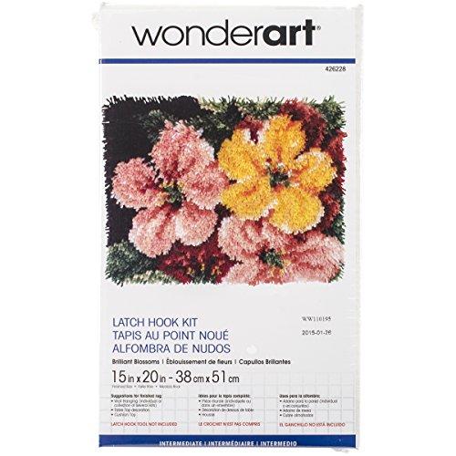 Brilliant Blossoms (WonderArt Brilliant Blossoms Latch Hook Kit, 15