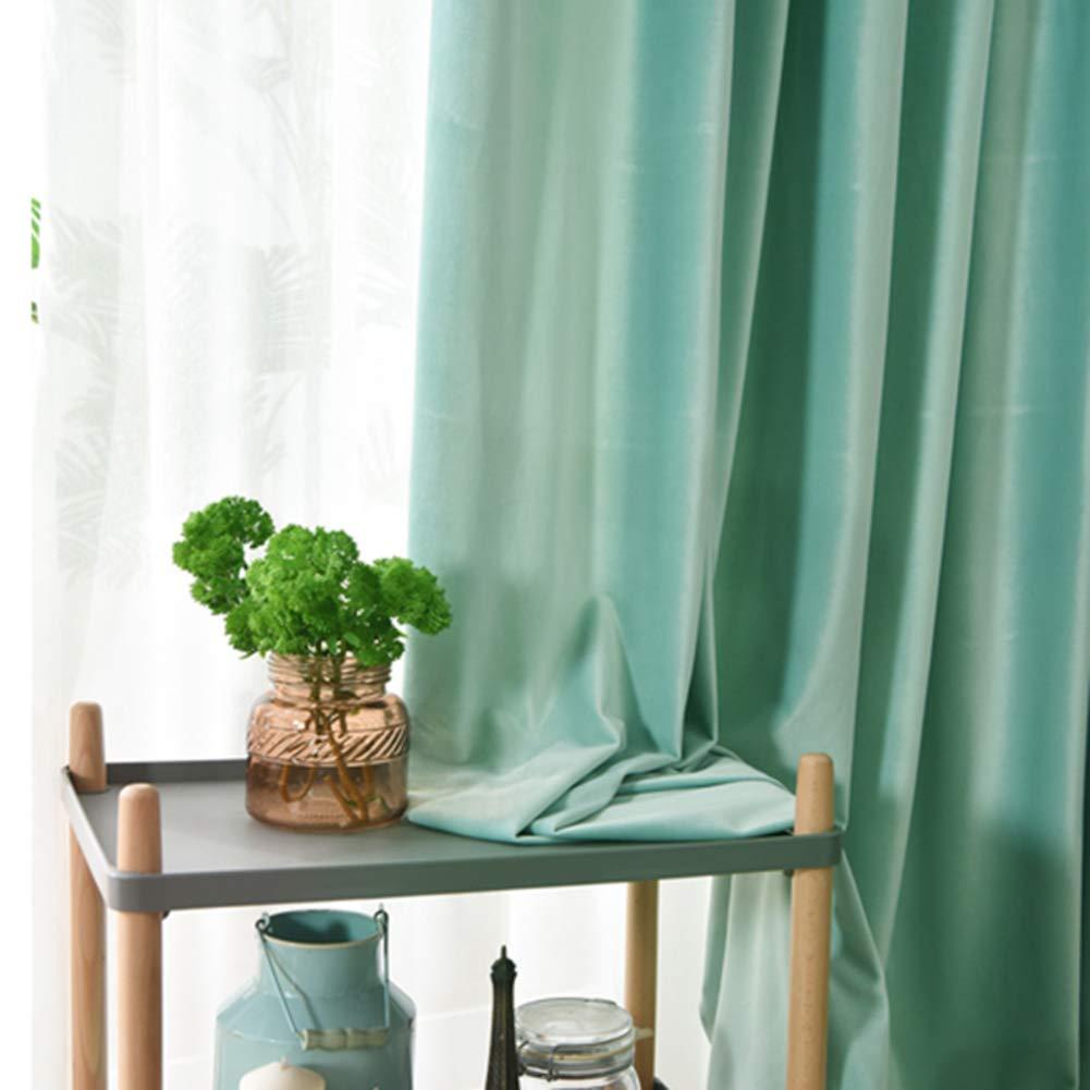 MUZIDP Dicken verdunkelung Vorhang,Nordische Volltonfarbe Wärmeisoliert Velvet Bildschirm Mit Haken Draperie Für Wohnzimmer Schlafzimmer 1pcs-B 150x280cm(59x110inch)