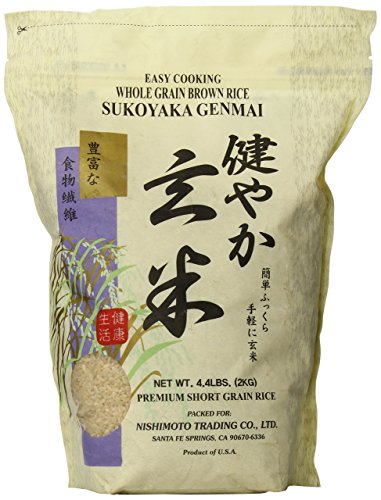 Sukoyaka Brown Rice, Genmai, 4.4-Pound (Sticky Rice Sushi)