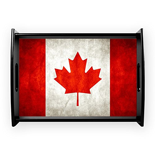 (Large Serving Tray Canadian Canada Flag Grunge)