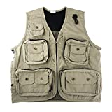 FoRapid Safari Photo Vest Photography Travel Hiking Fishing Camping Hunting