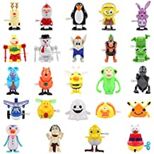 FUNNISM 24 Pieces Assorted Wind Up Toys for Kids Party Favors Children's Birthdays Gifts