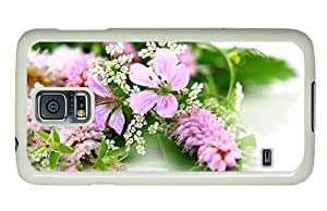 Diy Samsung Galaxy S5 discount cover Fresh and elegant flowers PC White for Samsung S5,Samsung Galaxy S5,Samsung i9600