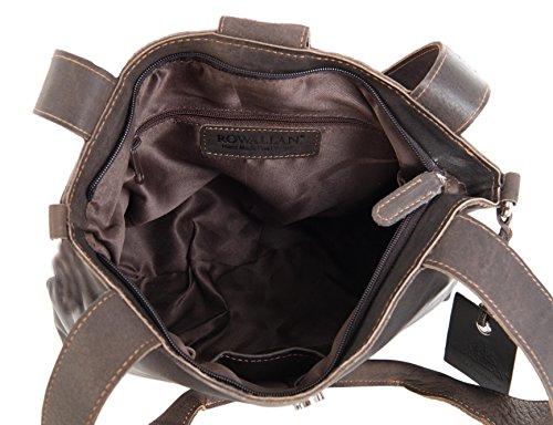 Rowallan donna maglia zip OIL PELLE MARRONE SPALLA a tracolla borsa a mano - 8502
