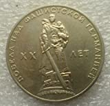 1965 RU 1 Ruble Warrior-liberator USSR Soviet Union Russian Coin 31mm Very Good