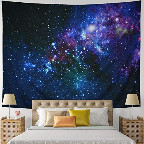 Leofanger Galaxy Tapestry Universe Starry Sky Tapestry Wall Hanging Milky Way Space Tapestry Psychedelic Tapestry Nebula Headboard Bedspread Tapestry for Bedroom Living Room(W78.7 × H59.1) ()