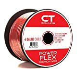 CT Sounds Car Audio 4 GA 100 Feet Power and Ground Cable - Red 4 Gauge 100 Foot