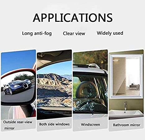 Auto Antibeschlag Folie Seitenspiegel Easy-Installation Wasserabweisend Oval