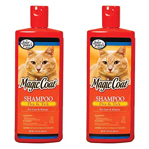 Four Paws Magic Coat Flea and Tick Shampoo for Cats [Set of 2]