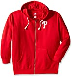 MLB Philadelphia Phillies Women's Plus Size Zip Hood with Logo, 2X, Red