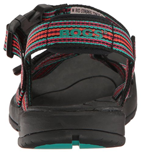 Athletic Women's Rio Stripes Bogs Multi Sandal Black xpBnRwq