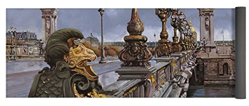 Pixels Yoga Mat w/ Bag ''Paris-pont Alexandre Terzo'' by Pixels