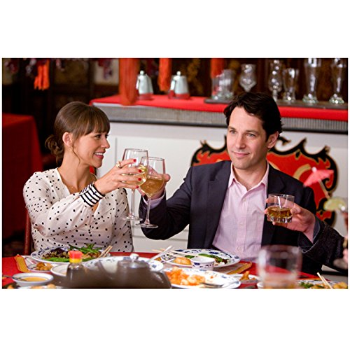I Love You, Man 3 8 inch x 10 inch PHOTOGRAPH Rashida Jones & Paul Rudd Clinking Wine Glasses - Paul Glasses Rudd