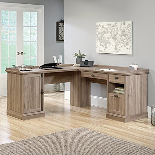 Sauder 418270 L-Desk, Salt Oak