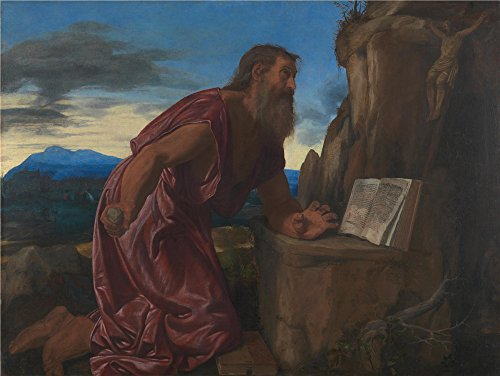 Oil Painting 'Giovanni Girolamo Savoldo Saint Jerome', 24 x 32 inch / 61 x 81 cm , on High Definition HD canvas prints is for Gifts And Bath Room, Garage (Bath Uk Museum Of Costume)