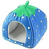 eDealMax Dot Modello del Gatto dell'animale domestico Canile Nest Tenda, 13.8, Dark Blue