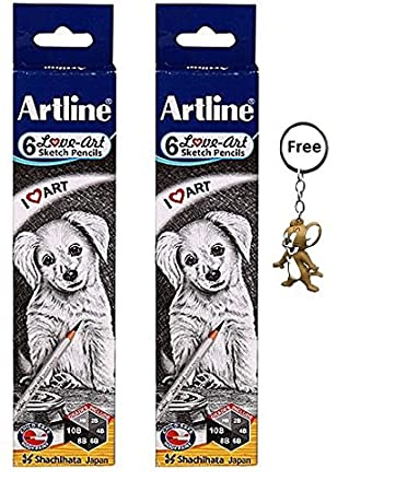 Amazon.com: Artline lápices de dibujo (HB, 2B, 4B, 6B, 8B ...