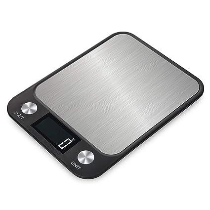 Homeofying - Báscula electrónica Digital Ultrafina, Pantalla LCD, Herramienta de medición de Alimentos para